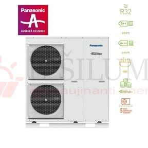 16 kW HP Mono-Bloc H kartos Panasonic AQUAREA šilumos siurblys WH-MDC16H6E5