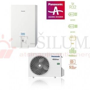 3,2 kW HP Bi-Bloc J kartos Panasonic AQUAREA šilumos siurblys KIT-WC03J3E5