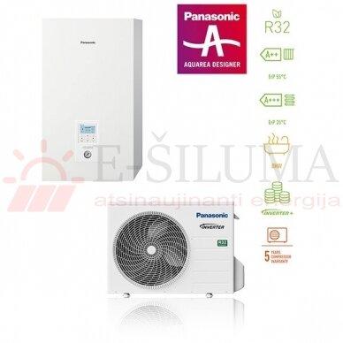 5 kW HP Bi-Bloc J kartos Panasonic AQUAREA šilumos siurblys KIT-WC05J3E5