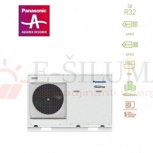 5 kW HP Mono-Bloc J kartos Panasonic AQUAREA šilumos siurblys WH-MDC05J3E5