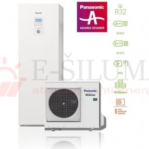 9 kW HP ALL IN ONE J kartos Panasonic AQUAREA šilumos siurblys KIT-ADC09JE5