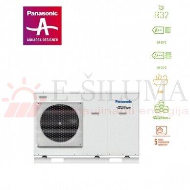 7 kW HP Mono-Bloc J kartos Panasonic AQUAREA šilumos siurblys WH-MDC07J3E5