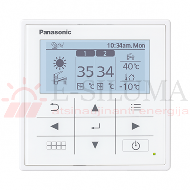 5 kW HP Bi-Bloc J kartos Panasonic AQUAREA šilumos siurblys KIT-WC05J3E5 2